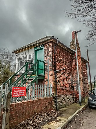 Shildon - The Grade II listed signal box at Shildon believed to have been designed by Thomas Prosser.