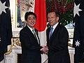 Shinzo Abe and Tony Abbott in Tokyo 2014 (1).jpg