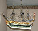 Ship model Tjølling Church.JPG