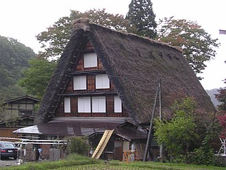 Minka - A gasshō-zukuri-styled minka home in Shirakawa village, Gifu Prefecture