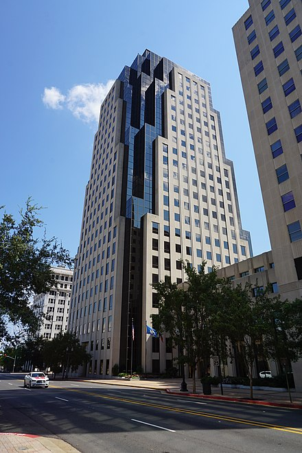 Regions Tower, the tallest building in downtown Shreveport Shreveport September 2015 026 (Regions Tower).jpg