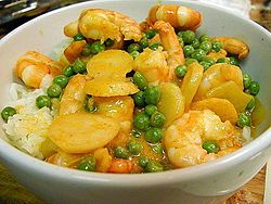 Shrimp curry peas rice bowls.jpg