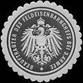 Siegelmarke Beauftragter des Feldeisenbahnchefs bei 3. Armee W0346805.jpg