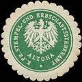 Siegelmarke K.Pr. Stempel- und Erbschaftssteueramt Altona W0362092.jpg
