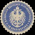 Siegelmarke K. Deutscher Marinevertreter in Helsingfors W0357526.jpg