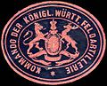 Siegelmarke Kommando der Königlich Württembergischen Feldartillerie W0225327.jpg