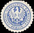 Siegelmarke Kunstgewerbe - Museum - General - Verwaltung der Königlichen Museen - Berlin W0226220.jpg