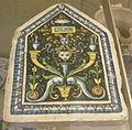 Siena, mattonella dal palazzo di pandolfo petrucci, 1509-13.JPG