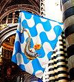 Siena - Flagge der Contrada Onda.JPG