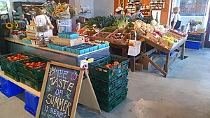 Boston Public Market - Image: Siena Farms stand at Boston Public Market
