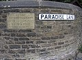 Sign at the end of Paradise Lane, Warley Town, Warley - geograph.org.uk - 567858.jpg