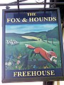 Sign for the Fox and Hounds - geograph.org.uk - 1577900.jpg