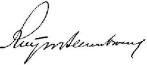 Charles Ruijs de Beerenbrouck - Image: Signature Ruys De Beerenbrouck