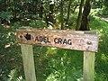 Signpost to Adel Crag - geograph.org.uk - 493635.jpg