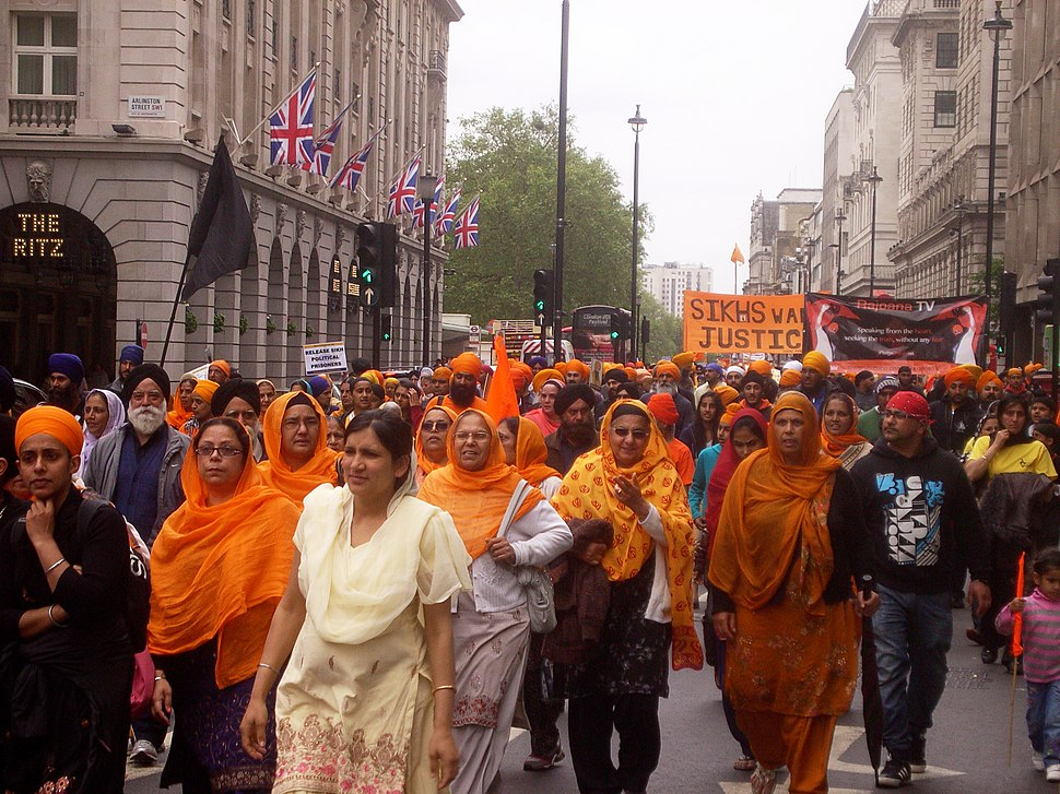 Sikh march against Indian policy, London 10-Jun-12