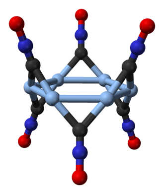 Silver fulminate - Ball-and-stick model of the cyclic hexamer in trigonal silver fulminate