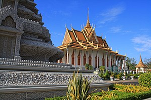 English: Silver Pagoda in Phnom Penh,Cambodia.