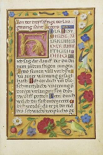 Simon Bening - Image: Simon Bening Decorated text Page
