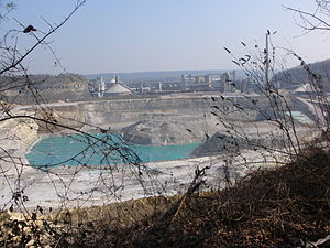 Mount Saint Peter - ENCI quarry and factories