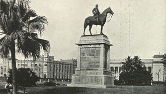 John Woodburn (Bengal governor) - Statue of Sir John Woodburn, which earlier stood at Dalhousie Square, Calcutta. Image of 1905.