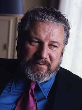 Portret van Peter Ustinov door Allan Warren.