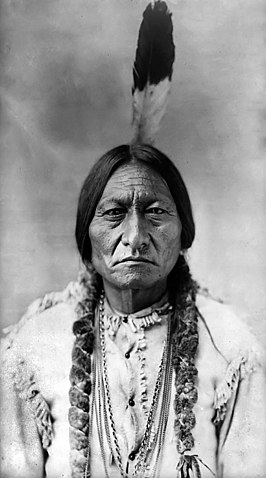 Portret van Sitting Bull door David Francis Barry, 1885.