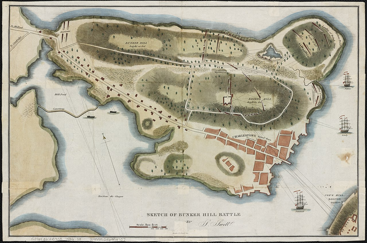 1280px Sketch of Bunker Hill Battle %282675105274%29 - Boston Weather