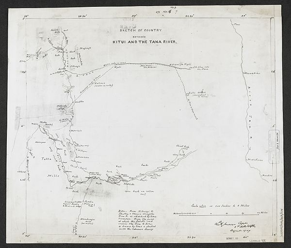 600px sketch of country between kitui and the tana river. %28womat afr bea 176%29