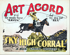 Art Acord - Acord in Sky High Corral, 1926