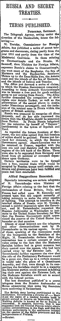 Skyes Picot, The Manchester Guardian, Monday, November 26, 1917, p5