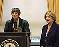 Slaughter, DeLauro Press Conference (10193331484).jpg