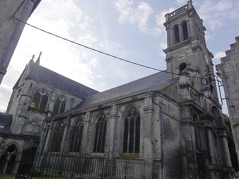 Soissons, abbatiale Saint-Léger, vue générale