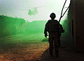 Soldier Watches Chinook Approach During Resupply for Operation Omid Haft in Afghanistan MOD 45152765.jpg