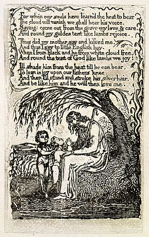 The Little Black Boy - Image: Songs of Innocence, copy U, 1789 (The Houghton Library) object 7 The Little Black Boy