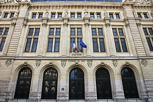 University of Paris III: Sorbonne Nouvelle - Image: Sorbonne university main building entrance