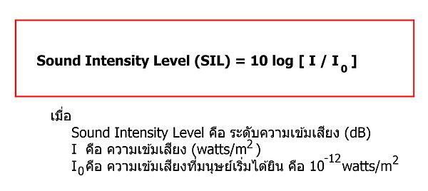 sound intensity level