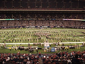 Sound of the South Marching Band - Troy University's Sound of the South performing their halftime show at the 2006 New Orleans Bowl.