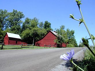 South Hero, Vermont - A barn in South Hero