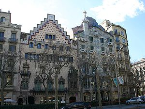 Casa Amatller - Casa Amatller (on the left) and Casa Batlló.