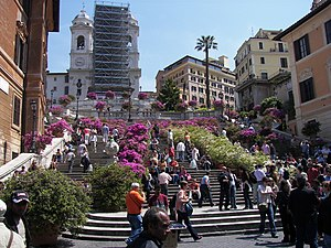 The Spanish Steps in Piazza di Spagna in Rome.