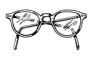 English: Line art drawing of spectacles. Suomi...