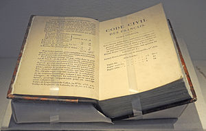 Civil code - The Napoleonic code.