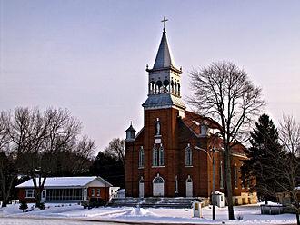 Saint-Armand, Quebec - Image: St Armand eglise