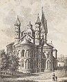 St. Aposteln, Johann Peter Weyer (Zeichnung) und Anton Wünsch (Lithografie), 1827 (from book).jpg
