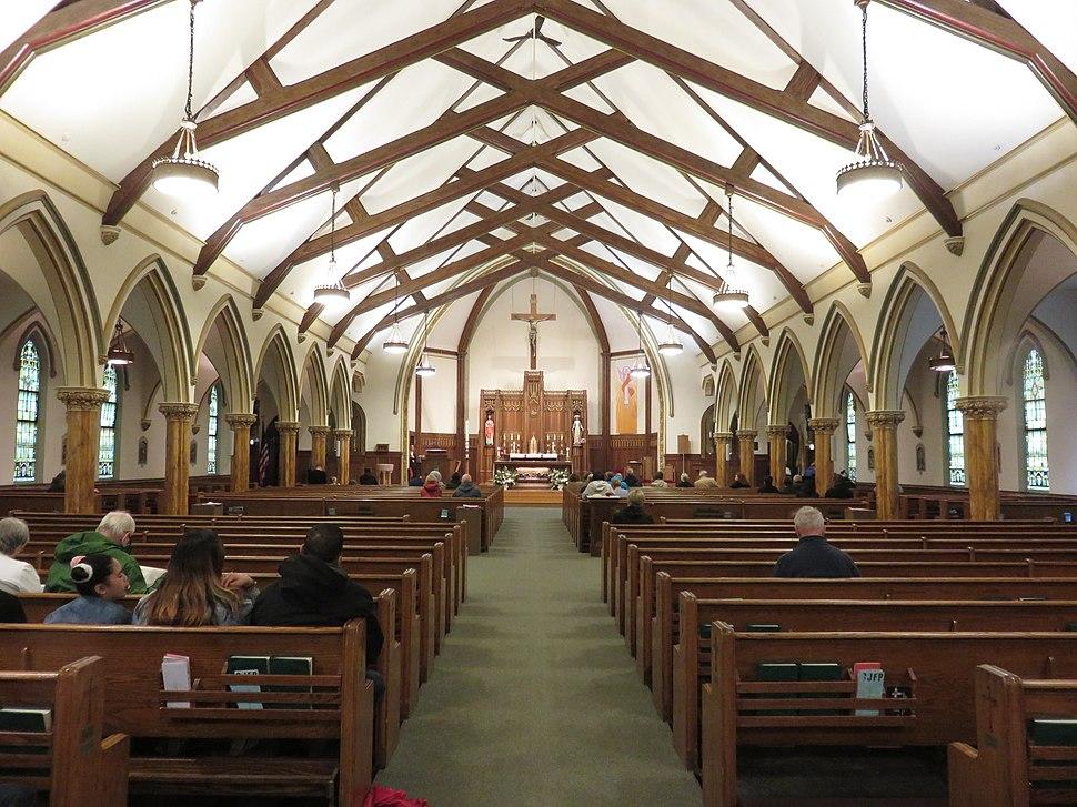 St. John the Baptist Church Quincy interior 2019a