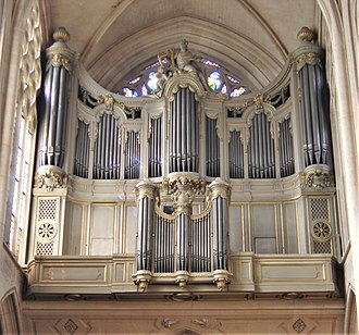 Pipe organ - The pipe organ in Saint-Germain l'Auxerrois, Paris