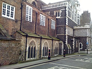 St Bartholomew-the-Great - North aspect from Cloth Fair