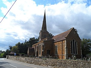 Greens Norton - Image: St Bartholomews church, Greens Norton (geograph 4141143)