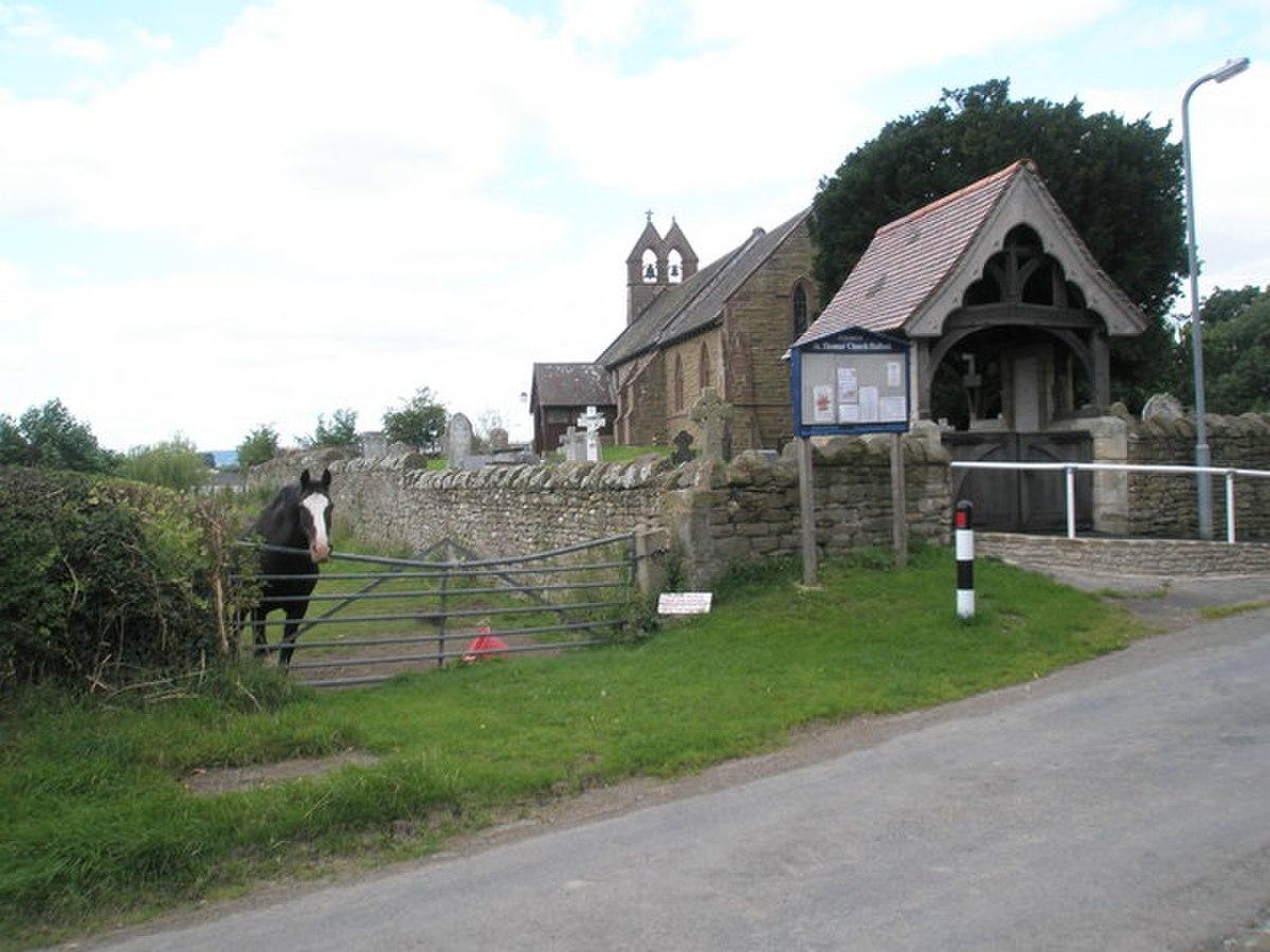 St Thomas parish church, Halford, Shropshire - geograph.org.uk - 1442415.jpg