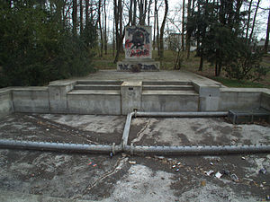 Neumarkt in der Oberpfalz - The remains of the former Dietrich Eckart memorial in Neumarkt, covered in both neo-Nazi and anti-Nazi graffiti